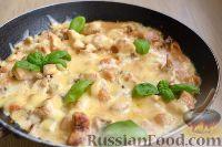Фото к рецепту: Жюльен с курицей и грибами