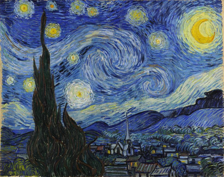 «Звездная ночь», Винсент Ван Гог, 1889